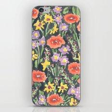 Black Floral iPhone Skin