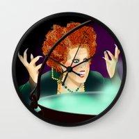 hocus pocus Wall Clocks featuring Hocus Pocus by Fransisqo82