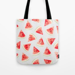 Watercolor Watermelon Pattern #society6 #buyart #decor Tote Bag