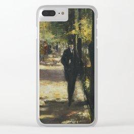 Lesser Ury 1861 - 1931 SPAZIERGÄNGER IM TIERGARTEN (STROLLER IN TIERGARTEN) Clear iPhone Case