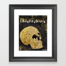 Frightening Framed Art Print