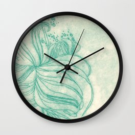 Ocean Plant Wall Clock