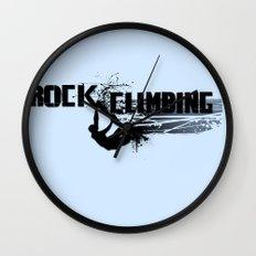 Rock Climbing - Male Wall Clock