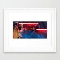 sith Framed Art Prints featuring sith queen by rnlaing