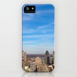 Montreal Skyline iPhone Case