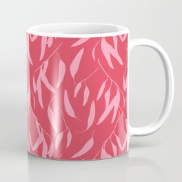 Leaf pattern, pink and red Coffee Mug