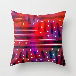 White Polka Dot Throw Pillow