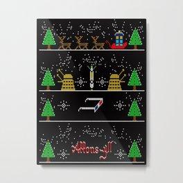 IT'S CHRISTMAS ALLONS-Y!  Metal Print