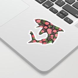 Floral Shark Sticker