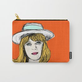 Pauline on Orange Carry-All Pouch