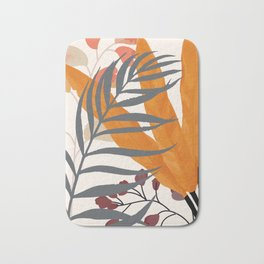 Colorful Red Leaves Bath Mat