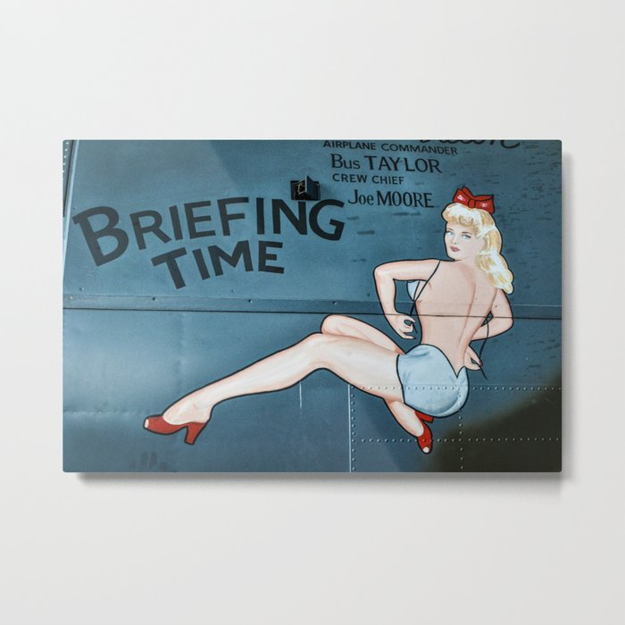 Nose Art Pinup Girl Metal Print