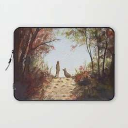 A Walk in the Autumn Woods Laptop Sleeve