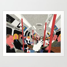 On the Tube, London Art Print