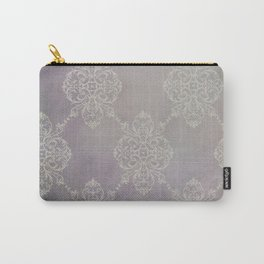 Vintage Damask - Violet Carry-All Pouch