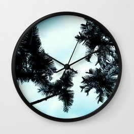 Turquoise Fun - nature photography Wall Clock