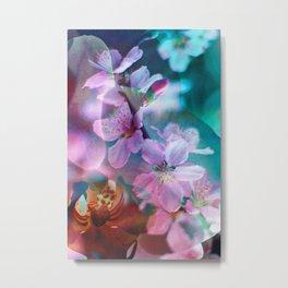 Double Flowers Metal Print