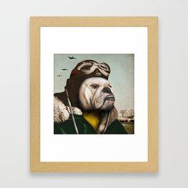 "Wing Commander, Benton ""Bulldog"" Bailey of the RAF Framed Art Print"