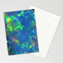 Blue geode opal iridescent holographic druse crystal quartz agate gem gemstone mineral stone photo Stationery Cards