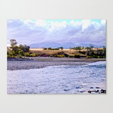 Camping on the Yellowstone River Canvas Print