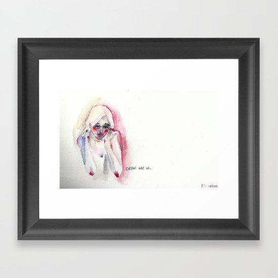 Draw Me In Framed Art Print