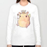 prince Long Sleeve T-shirts featuring Prince Angel of Bunnyland by Mike Koubou