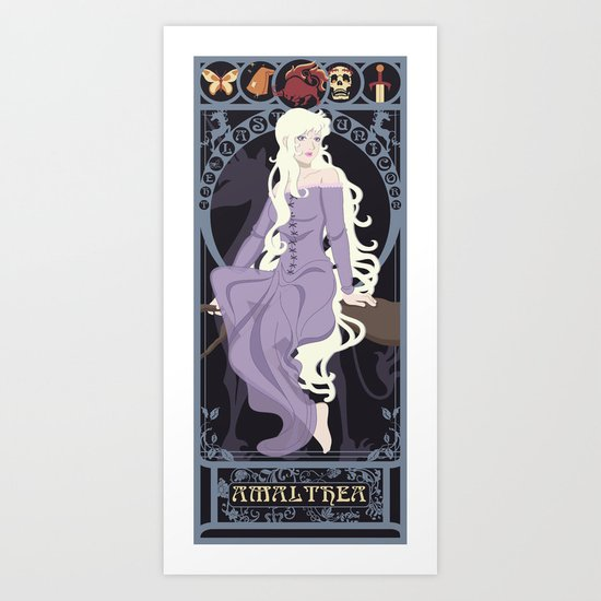 Amalthea Nouveau - The Last Unicorn Art Print
