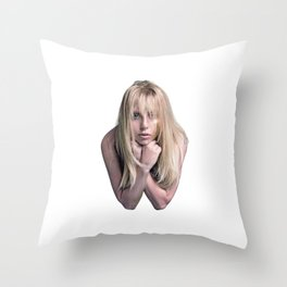 Glitter & Grease Throw Pillow