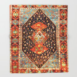 Bakshaish Antique Persian Carpet Print Throw Blanket