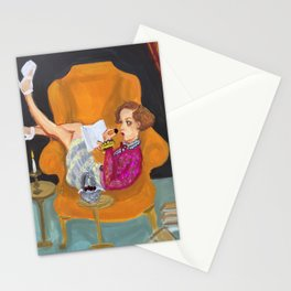"""""""mary, sunday afternoon"""" Stationery Cards"""