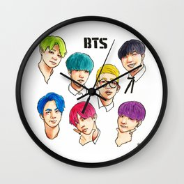 BTS Colorful Wall Clock