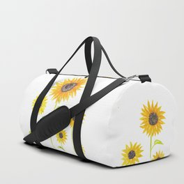 Sunflowers Watercolor Painting Duffle Bag