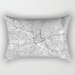 Dallas Map Line Rectangular Pillow