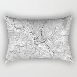 Dallas Map Line Rectangular Pillow