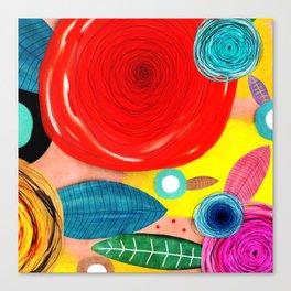 Glück kann man trainieren - Rupydetequila ultimative Farben Canvas Print