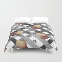 silver Duvet Covers featuring SILVER by Bárbara