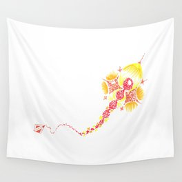 Abstract kite - Red and yellow Wall Tapestry