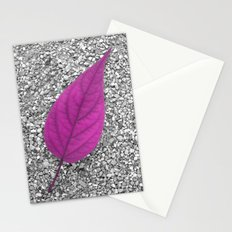 purple leaf Stationery Cards