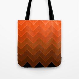 Gradient Orange Zig-Zags Tote Bag