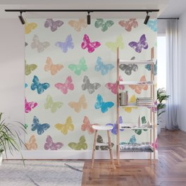 Colorful butterflies Wall Mural