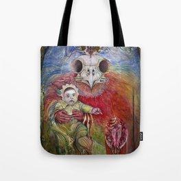 The Surrogate Mother-Goddess of Wisdom holding Alter-Ego Baby Bogomil Tote Bag