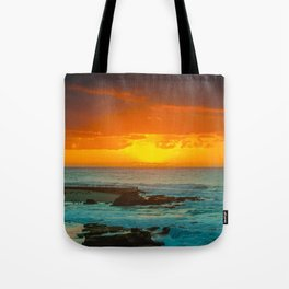 Sunset over childrens pool Tote Bag