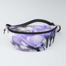 Periwinkle Flowers Fanny Pack