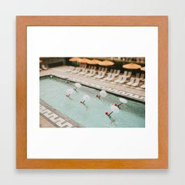 Aqualillies in Santa Monica Framed Art Print