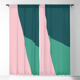 Geometric design in pink & green Blackout Curtain
