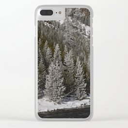 Carol Highsmith Snow Covered Conifers Clear iPhone Case