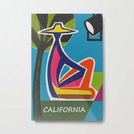 Vintage California Travel Poster Metal Print