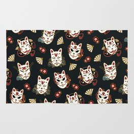 Kitsune Mood Masks Rug