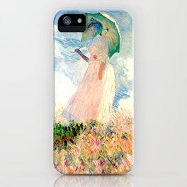 Claude Monet : Woman With A Parasol iPhone Case