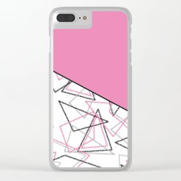 Abstract pink combo pattern . Clear iPhone Case